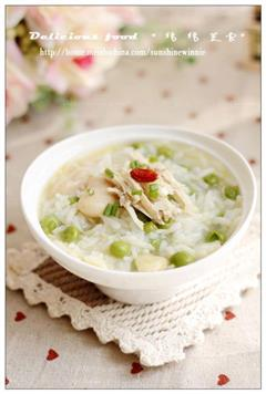 鸡汁豆汤饭