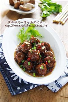 裹汁香菇牛肉丸