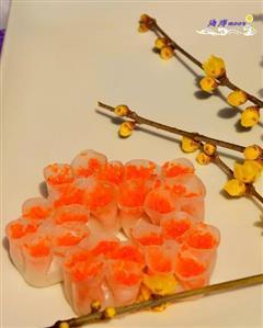 水晶梅花蒸饺