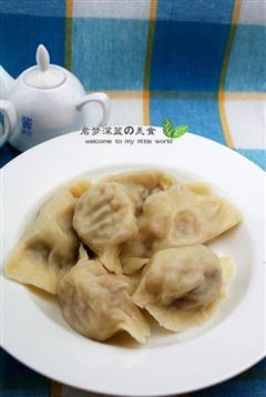 灌汤水萝卜饺子
