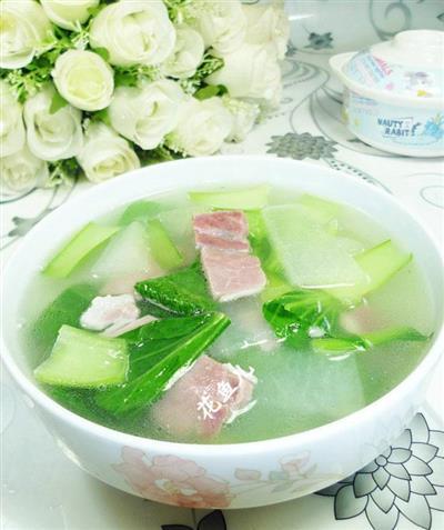 咸肉青菜冬瓜汤