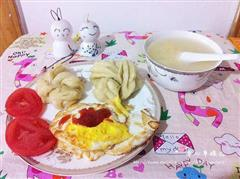 小花卷配煎蛋