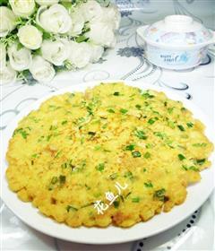 韭菜玉米馒头煎饼
