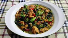 家常小白菜炖豆腐