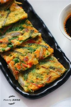 韩式香松虾仁煎饼