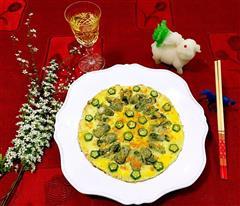 牡蛎煎蛋饼
