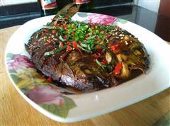 无油藿香烤鱼