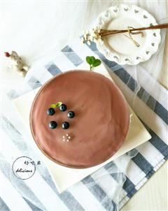 蓝莓镜面慕斯蛋糕