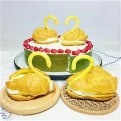 天鹅泡芙蛋糕