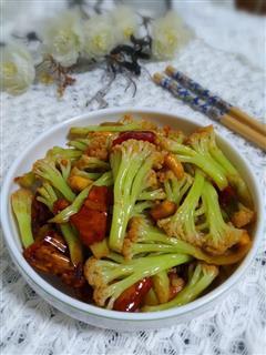 香辣酥炒花菜