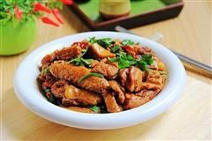 豆腐焖鸡块