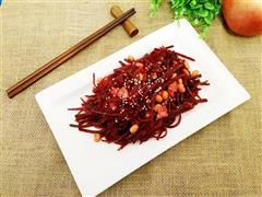 肉片炒甜菜头