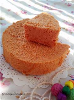 红曲戚风蛋糕