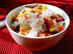腊肉焖米饭