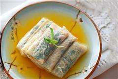 豆皮荠菜包