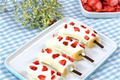 草莓碎脆皮香蕉雪糕