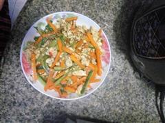 蛋清炒蔬菜