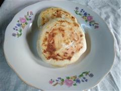 奶香荠菜发面饼
