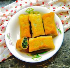 炸荠菜猪肉春卷