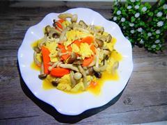 蟹味菇炒鸡蛋
