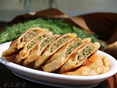 茴香鲜肉饼