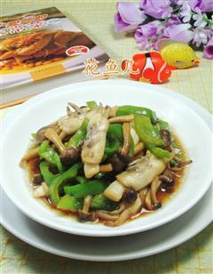 尖椒蟹味菇蛏子