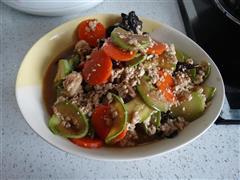 豆腐西葫芦炒鸡肉