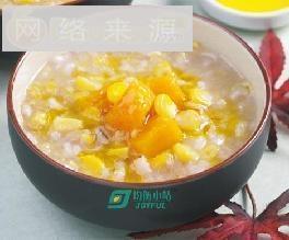玉米南瓜大麦粥