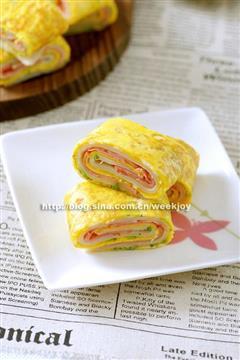 早餐蛋饼卷
