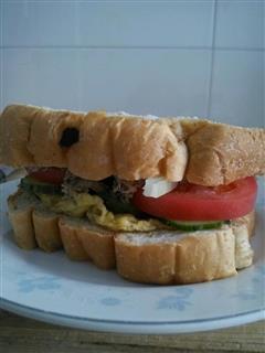 金枪鱼全麦面包三明治
