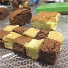 巧克力+原味双拼戚风蛋糕