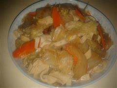 大白菜炖豆腐皮