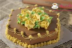 玫瑰花摩卡慕斯蛋糕