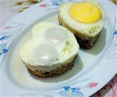 酒香肉饼蒸蛋