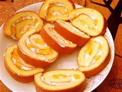 芒果瑞士卷 芒果戚风蛋糕卷