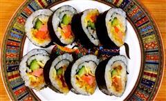 芝士肉松咸蛋黄紫菜包饭