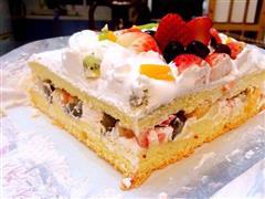 8寸草莓夹心生日蛋糕