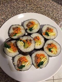 韩式紫菜包饭-牛肉Kimbap
