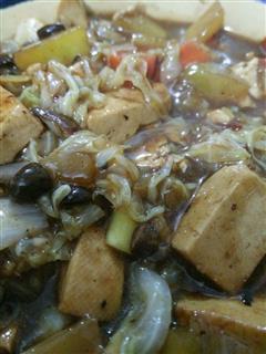 豆豉白菜炖豆腐