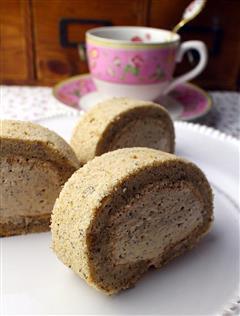 奶茶慕斯蛋糕卷