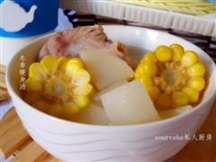 广东年夜饭必备玉米骨头汤