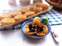 芝麻花生南瓜饼