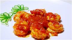 色泽红润,营养美味-茄汁虾球