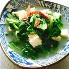 腊肉香的小白菜炖豆腐