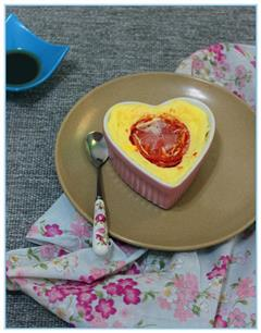 微波西红柿鸡蛋羹