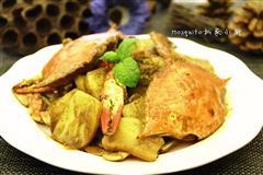咖喱蟹炒年糕
