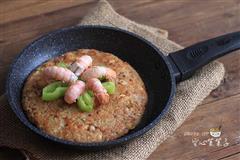 龙虾肉糜糯米饭煎饼