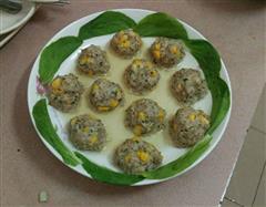 玉米青菜肉丸子