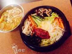 蔬菜石锅拌饭