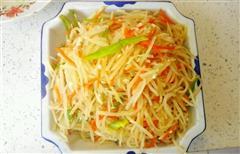 春饼必备菜-醋溜土豆丝